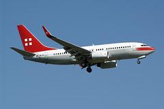 Untitled PrivatAir Boeing 737-7CN BBJ HB-IIQ (Kambui) Tags: schweiz switzerland geneva airplanes planes boeing untitled 737 aviones avions genf flugzeuge  avies bbj 737700 gva privatair aeroplani kambui  hbiiq 7377cn