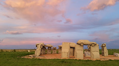 Carhenge (spencerhall1) Tags: lighting sunset summer sky nebraska roadtrip goldenhour carhenge alliance sandhills galaxys5
