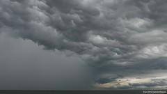 Split Sky (raymondklaassen) Tags: bui shower markermeer wolk waterval grijs