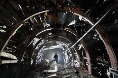 Cintrages (flallier) Tags: abandoned silhouette underground mine copper cuivre boisages effondrements cintrages