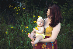 Daisy Baby (Nicolette Ivy) Tags: portrait baby daughter mother newborn nursing motherdaughter babyphotography outdoorportrait
