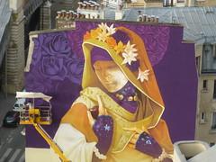 Inti : cration en cours (28 juin 2016) (Archi & Philou) Tags: streetart girl lady femme workinprogress wip inti madone paris13 paintedwall murpeint travailencours itinerrance