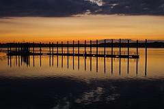 Last bits of light (Mannington Creek) Tags: water sunset shore clouds sky outdoors nj sun color twilight summer ngc