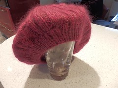 Raspberry beret 4 (frances bell) Tags: knitting blocked raspberry beret