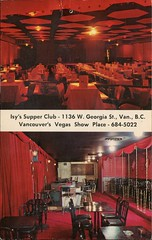 Isy's Supper Club, Vancouver's Vegas Showplace, BC (SwellMap) Tags: architecture vintage advertising design pc 60s fifties postcard suburbia style kitsch retro nostalgia chrome americana 50s roadside googie populuxe sixties babyboomer consumer coldwar midcentury spaceage atomicage