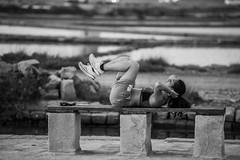 DSC_5564 (Pasquesius) Tags: sunset sea girl tramonto mare exercise lagoon sicily workout rosso saline sicilia ragazza saltponds marsala ginnastica allenamento stagnone lagunadellostagnone riservanaturaledellostagnone