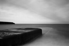 The other end (Ed Thuell) Tags: longexposure sea blackandwhite seascape water landscape coast brighton waves sony nd groyne brightonmarina leefilter