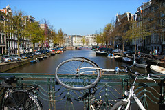 city view........... (atsjebosma) Tags: amsterdam bike bicycle spring may thenetherlands fietsen keizersgracht cityview 2013 atsjebosma mygearandme mygearandmepremium mygearandmebronze