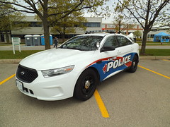 Halton Regional Police new Ford Taurus (car show buff1) Tags: rescue ontario canada ford logo chief tahoe police victoria crest chevy dodge crown ladder squad incident ems charger pursuit commander caprice pumper ppv battalion halton f250