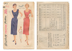 Simplicity-3608-Button-Tab-Dress (kittymeow84) Tags: vintage pattern fifties dress top sewing skirt retro blouse 1940s 1950s custom forties garment kittysdrawings
