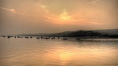 Sunset (mark hawker2013) Tags: uk sunset river boats olympus devon dingy teignmouth shaldon teign e420 bishopsteignton