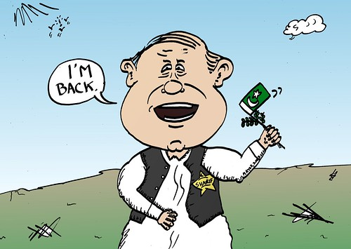 binary options news caricature nawaz sharif is back in power in pakistan