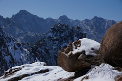 Seoraksan National Park (H.e.l.e.n.) Tags: winter snow mountains rocks rocky korea seoraksan gwongeumseong trip2013