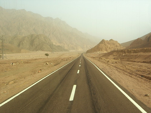 Driving to Saint Catherine from Dahab