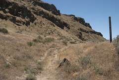 Oregon Trail ruts near Biggs Junction, Oregon (Steve_Riddle) Tags: oregontrail pioneer oregontrailrutsnearbiggsjunctionoregon biggsjunctionoregon