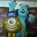 Sulley and Wazowski from Monsters University to promote the film at the Festival Theatre