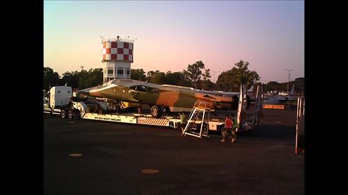 F-111 Unload Darwin Time Lapse 16 June 2013