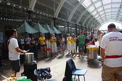 Bath Carnival Prep at Green Park Station, Bath. (Rich Wareham Photography) Tags: carnival summer brazil music drums community bath samba dancing rehearsal arts band brazilian session drumming prep lessons greenparkstation 2013 bathcarnival