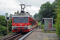Halt on the Rack (Don Gatehouse) Tags: schweiz switzerland suisse ab 25 svizzera bodensee rhb heiden eisenbahnen appenzellerbahnen rorschachhafen rorschachheidenbahn stadlerbdeh36 sandbchel