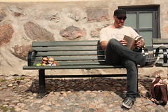 Enjoying the relaxed Porvoo atmosphere