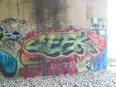geek (TheRapLetterTechnician) Tags: graffiti virginia dc washington md track geek tag side maryland tags geeks va writers writer graff bomb bombs tagging dmv bombing nsf trackside