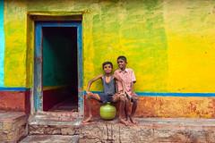 (ayashok photography) Tags: india kids asian nikon asia mood village indian pot desi karnataka bharat active yellowwall bharath desh barat cwc rurallife ruralindia barath 2013 nikkor24120mmvr nikonstunninggallery ayashok nikond700 chennaiweekendclickers ayashokphotography ayp5844
