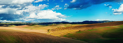 Another Tuscan Landscape (Philipp Klinger Photography) Tags: italien november autumn trees light sunset shadow sky italy panorama cloud brown sun m