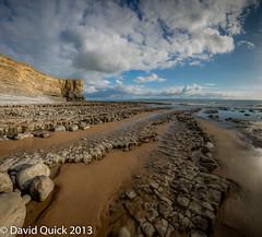 Nash Point (Monknash) panorama (2 of 18) (DavidQuick) Tags: panorama beach wales coast rocks cliffs glamorgan lowtide stitched nashpoint monknash