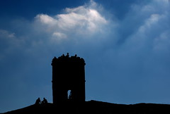 tiny temple (Rustybricko) Tags: silhouette clouds buxton bluesky hdr solomonstemple grinlowtower