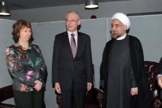 Catherine Ashton and Van Rompuy meet Iran President Rouhani_3