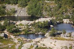 Lakes from above (maxunterwegs) Tags: lake nature norway rock lago see norge norwegen lac trail noruega fels sentier roca senda weg roche trilha rogaland rocha norvge