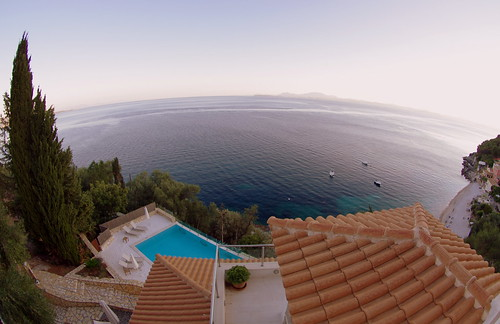 Our villa and the sea