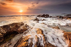 fill in the blank! (Mk Azmi) Tags: sea sky sun beach nature water colors clouds sunrise catchycolors nikon rocks seascapes wave images slowshutter getty terengganu dungun singhray tanjungjara reversegnd nikkorafs1635mmf4edvr