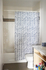 Hall Bath After Texuring & Painting (motoko smith) Tags: painting bathroom diy showercurtain texturing serenalily