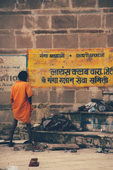 another man peeing (rick.onorato) Tags: india man varanasi peeing