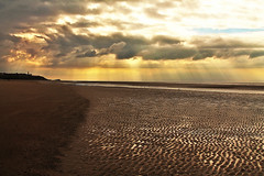 right back where I started (Dreemrr) Tags: sea sky beach nature water beauty clouds coast sand rays sunrays blackpool norbreck bispham