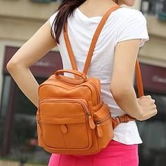 กระเป๋าเป้ กระเป๋าเป้สะพายหลัง สไตล์อินเทรนด์เกาหลี สวยใหม่ล่าสุดทันสมัยใช้ได้ทุกวัยขนาดกำลังดี ใช้ได้นานทนทาน ด้านในบุด้วยผ้า ทำด้วยหนังอย่างดีน้ำหนักเบา คล่องตัว เหมาะจะไปเที่ยวหรือไปทำงานก็น่ารักดูสวยใหม่มีให้เลือกสวย จะใส่เป็นกระเป๋าสะพาย กระเป๋าทำงาน