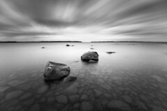 Dawn at Bonäsudden (- David Olsson -) Tags: longexposure morning blackandwhite bw lake seascape motion nature water monochrome clouds sunrise landscape mono early movement nikon rocks cloudy sweden outdoor stones may le grayscale fx vr vänern d800 hammarö värmland 1635 ndfilter blackglass shallowwater 1635mm smoothwater fiskevik smoothsky 2013 bonäsudden lenr fiskvik davidolsson räggårdsviken nd500 lightcraftworkshop 1635vr