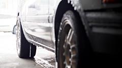 PA270027 (_KPGRAFIX) Tags: winter snow grey bucket rust wheels rusty chillin rustbucket 1992 mazda icicles hatchback beater rota 2door mazda323 2dr wetsnow winterbeater rotawheels 16x7