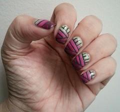 gradient yarn ball nails (iamsparkli) Tags: art nail polish nails manicure nailpolish nailart varnish lacquer notd