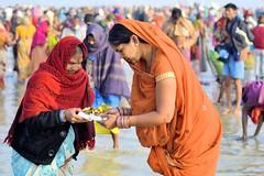 Gangasagar........ Candid Moments (pallab seth) Tags: india festival women candid religion culture ritual priest tradition bathing custom devotee hindu hinduism bengal pilgrimage pilgrim ganga 2012 mela candidshot sagar gangasagar gangasagarmela d3100
