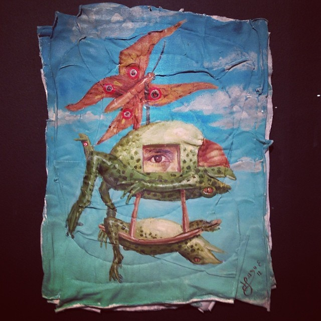 """El espectador voyerista"" Hugo Salazar • ""Bestiario"" #muestra colectiva #arteenlima #arte #artinlima #art #artistaperuano #artist #artista #peruvianartist"