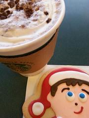 Elf on the Shelf cookie & White Chocolate Mocha (AbelZ728) Tags: red food coffee cookie elf foodporn starbucks mocha redrule whitechocolate barnesnoble iatethis project365 whitechocolatemocha afoodphotographyexperience foodielicious samsunggalaxy shelfontheelf