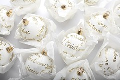 Merry Christmas by Petoo Zvonar @ ERZVO, Design d15 (laksass2) Tags: christmas new xmas winter light party white holiday glass closeup modern ball festive season fun happy gold golden shiny december shine bright decorative background object space traditional text year seasonal decoration celebration ornament sphere round copyspace merry tradition bauble celebrate decorate copy isolated vianoce