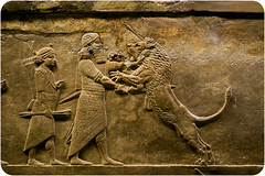 Lion hunt of horseback (Kirane (Milleliri)) Tags: london britishmuseum assyrian