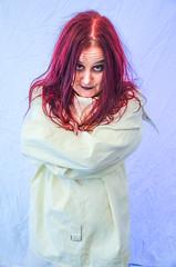 DSC_0811 (Studio5Graphics) Tags: red girl hair fun photography insane interesting model modeling redhead jacket horror slip macabre straight straightjacket