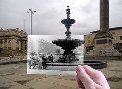 Steble Fountain 1890s in 2014 thumby (Keithjones84) Tags: liverpool thenandnow merseyside steblefountain oldliverpool