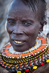 20121003_1208 (Zalacain) Tags: africa portrait woman black face person kenya retrato tribal human tribe traditionaldress turkana laketurkana loyangalani