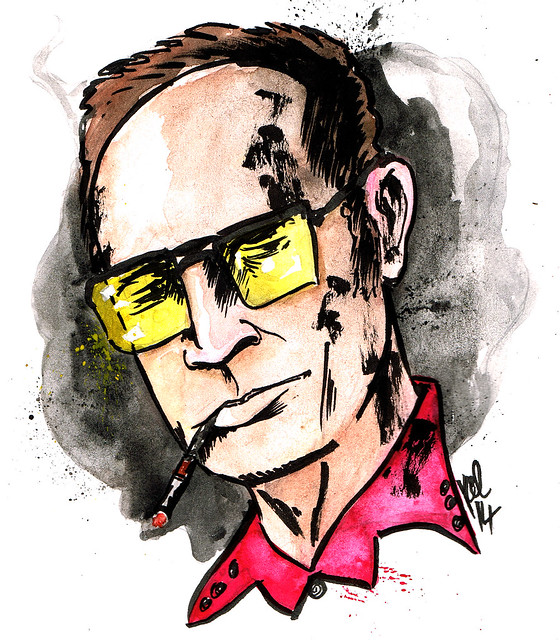 Portrait of Hunter S Thompson