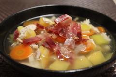 Chunky soup with ham (Mrs Legan) Tags: recipe soup ham soupe sopa jamon recette jambon receta